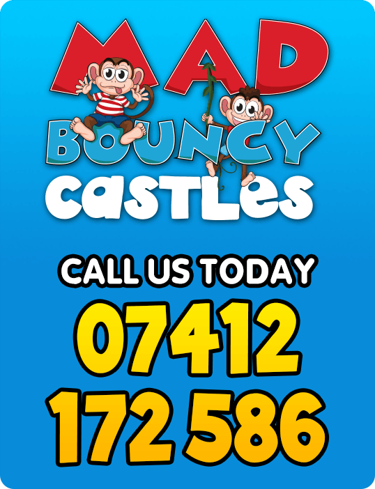 Mad Bouncy Castles - Call us today - 07412 172 586
